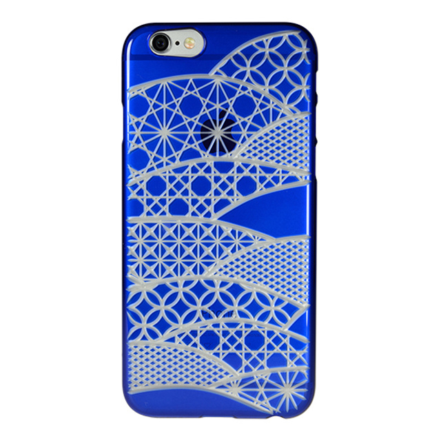 "【Web限定】AIR JACKET ""kiriko"" for iPhone6s/6 (千代柄・瑠璃色)"