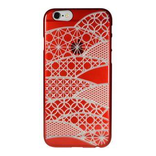 "【Web限定】AIR JACKET ""kiriko"" for iPhone6s/6 (千代柄・茜色)"