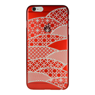 "【Web限定】AIR JACKET ""kiriko"" for iPhone6s Plus/6 Plus (千代柄・茜色)"