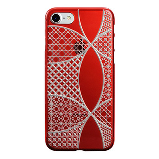 "【Web限定】AIR JACKET ""kiriko"" for iPhone8/7  千代柄・七宝(紅)"