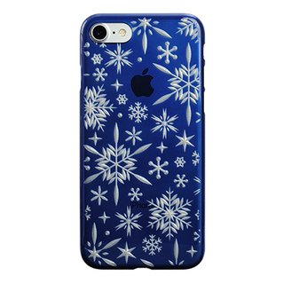 "【Web限定】AIR JACKET ""kiriko"" for iPhone8/7  雪片(藍)"