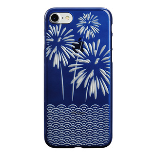 "【Web限定】AIR JACKET ""kiriko"" for iPhone7  花火(藍)"
