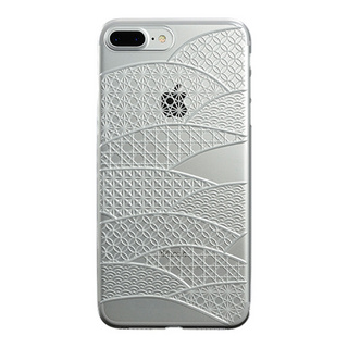 "【Web限定】AIR JACKET ""kiriko"" for iPhone8 Plus/7 Plus 千代柄・扇(クリア)"