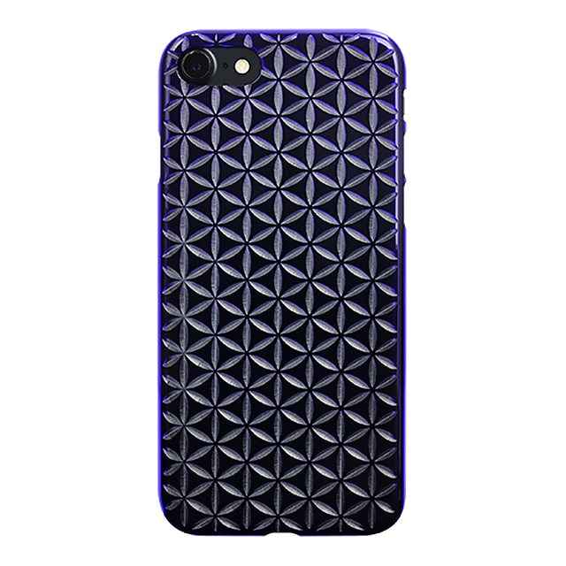 "【Web限定】AIR JACKET ""kiriko"" for iPhone7  麻の葉つなぎ(葡萄)"