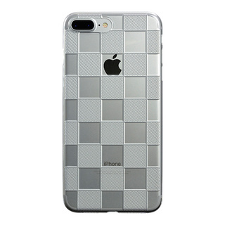 "【Web限定】AIR JACKET ""kiriko"" for iPhone8 Plus/7 Plus 市松(クリア)"