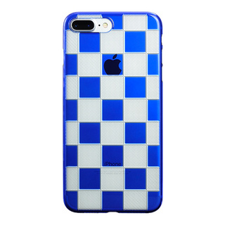 "【Web限定】AIR JACKET ""kiriko"" for iPhone8 Plus/7 Plus 市松(瑠璃)"