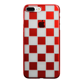 "【Web限定】AIR JACKET ""kiriko"" for iPhone8 Plus/7 Plus 市松(紅)"