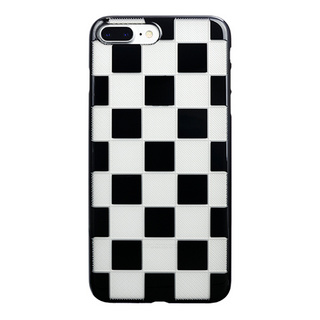 "【Web限定】AIR JACKET ""kiriko"" for iPhone8 Plus/7 Plus 市松(ピアノブラック)"