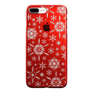 "【Web限定】AIR JACKET ""kiriko"" for iPhone8 Plus/7 Plus 雪片(紅)"