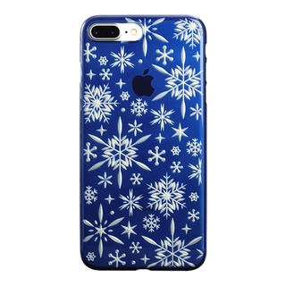 "【Web限定】AIR JACKET ""kiriko"" for iPhone7 Plus 雪片(藍)"