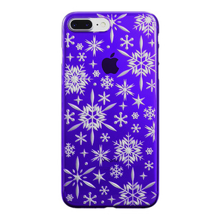 "【Web限定】AIR JACKET ""kiriko"" for iPhone8 Plus/7 Plus 雪片(葡萄)"