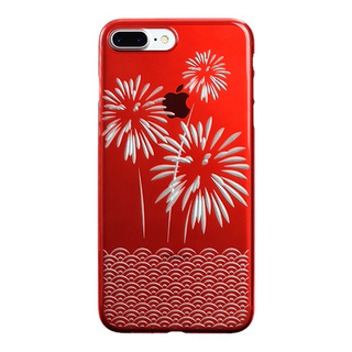 "【Web限定】AIR JACKET ""kiriko"" for iPhone8 Plus/7 Plus 花火(紅)"