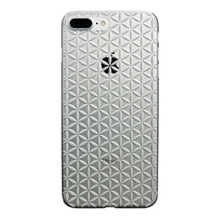 "【Web限定】AIR JACKET ""kiriko"" for iPhone8 Plus/7 Plus 麻の葉つなぎ(クリア)"