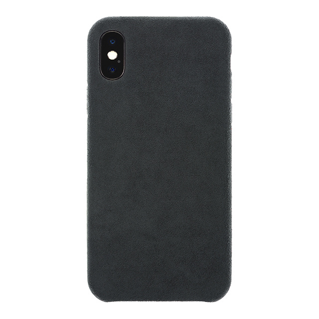 Ultrasuede(R) Air Jacket for iPhone X (Asphalt)