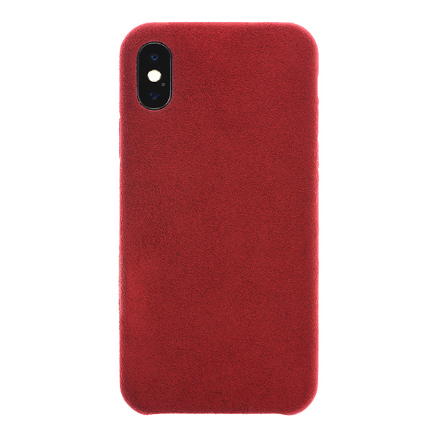 Ultrasuede(R) Air Jacket for iPhone X (Red)
