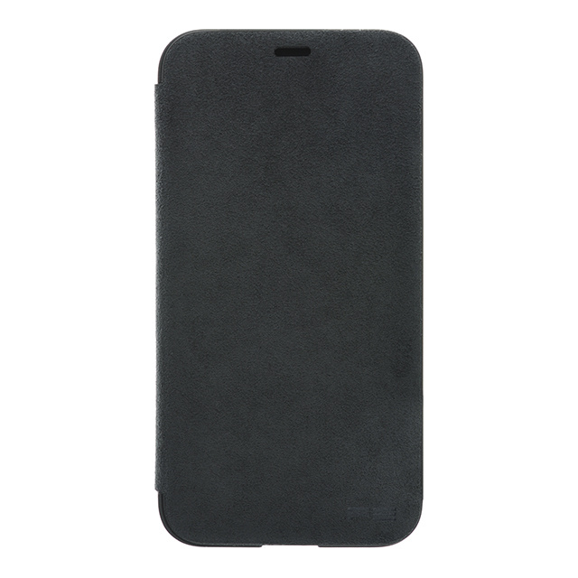 Ultrasuede(R) Flip Case for iPhone X (Asphalt)