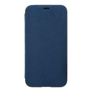Ultrasuede(R) Flip Case for iPhone X (Blue)