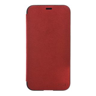 Ultrasuede(R) Flip Case for iPhone X (Red)