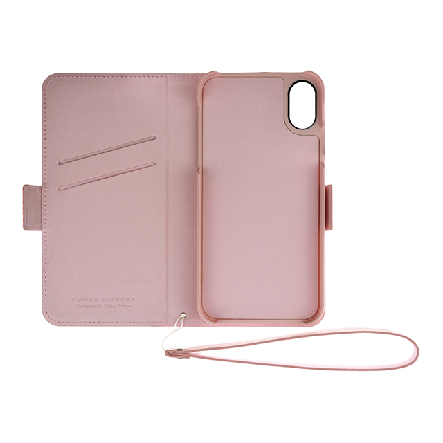 Leather Flip Case for iPhone XS/X (Pink)