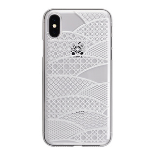 "【Web限定】AIR JACKET ""kiriko"" for iPhone X 千代柄・扇 (クリア)"