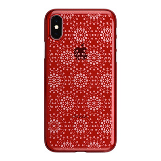 "【Web限定】AIR JACKET ""kiriko"" for iPhone X 万華鏡 (紅)"