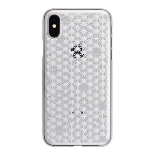 "【Web限定】AIR JACKET ""kiriko"" for iPhone X 麻の葉崩し (クリア)"