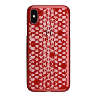 "【Web限定】AIR JACKET ""kiriko"" for iPhone X 麻の葉崩し (紅)"