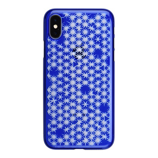 "【Web限定】AIR JACKET ""kiriko"" for iPhone X 麻の葉崩し (瑠璃)"