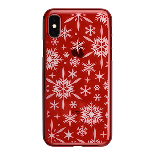 "【Web限定】AIR JACKET ""kiriko"" for iPhone X 雪片 (紅)"