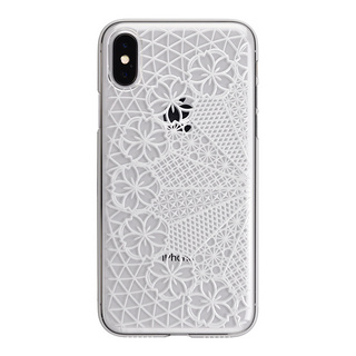"【Web限定】AIR JACKET ""kiriko"" for iPhone X 花車 (クリア)"