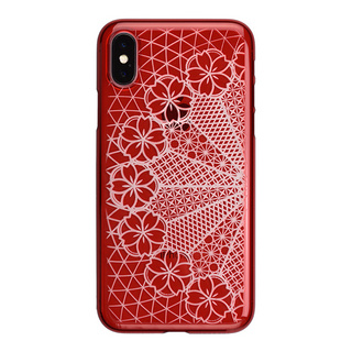 "【Web限定】AIR JACKET ""kiriko"" for iPhone X 花車 (紅)"