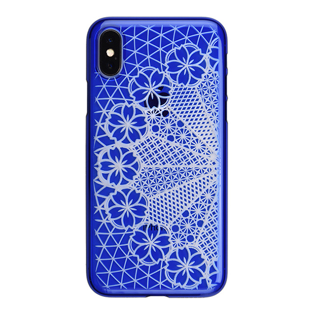 "【Web限定】AIR JACKET ""kiriko"" for iPhone X 花車 (瑠璃)"