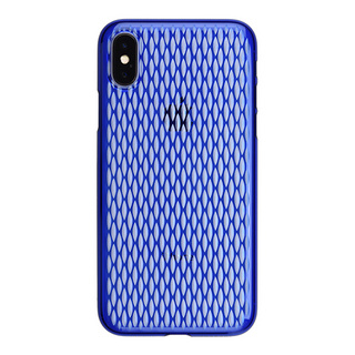 "【Web限定】AIR JACKET ""kiriko"" for iPhone X 米つなぎ (瑠璃)"