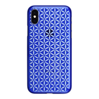 "【Web限定】AIR JACKET ""kiriko"" for iPhone X 麻の葉つなぎ (瑠璃)"