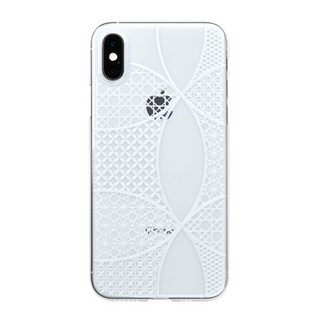 "【Web限定】Air Jacket ""Kiriko"" for iPhone XS 千代柄 (七宝) クリア"
