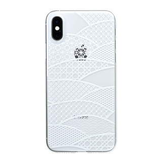 "【Web限定】Air Jacket ""Kiriko"" for iPhone XS 千代柄 (扇) クリア"