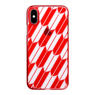 "【Web限定】Air Jacket ""Kiriko"" for iPhone XS 矢絣 紅"