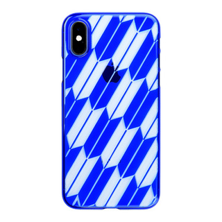 "【Web限定】Air Jacket ""Kiriko"" for iPhone XS 矢絣 瑠璃"