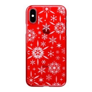 "【Web限定】Air Jacket ""Kiriko"" for iPhone XS 雪片 紅"