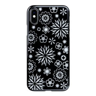 "【Web限定】Air Jacket ""Kiriko"" for iPhone XS 花 ピアノブラック"