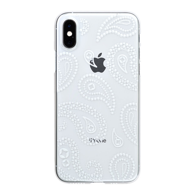 "【Web限定】Air Jacket ""Kiriko"" for iPhone XS ペイズリー クリア"