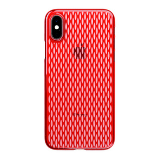 "【Web限定】Air Jacket ""Kiriko"" for iPhone XS 米つなぎ 紅"