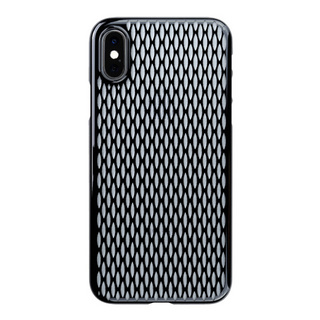 "【Web限定】Air Jacket ""Kiriko"" for iPhone XS 米つなぎ ピアノブラック"