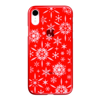 "【Web限定】Air Jacket ""Kiriko"" for iPhone XR 雪片 紅"