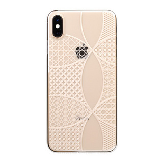 "【Web限定】Air Jacket ""Kiriko"" for iPhone XS Max 千代柄 (七宝) クリア"