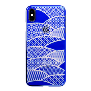 "【Web限定】Air Jacket ""Kiriko"" for iPhone XS Max 千代柄 (扇) 瑠璃"