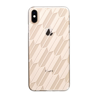 "【Web限定】Air Jacket ""Kiriko"" for iPhone XS Max 矢絣 クリア"