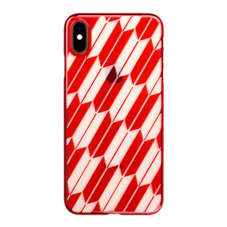 "【Web限定】Air Jacket ""Kiriko"" for iPhone XS Max 矢絣 紅"