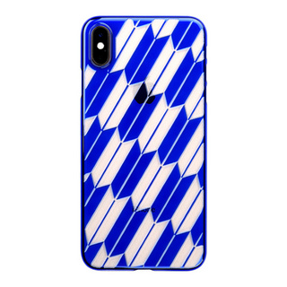 "【Web限定】Air Jacket ""Kiriko"" for iPhone XS Max 矢絣 瑠璃"