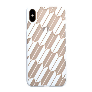 "【Web限定】Air Jacket ""Kiriko"" for iPhone XS Max 矢絣 ピュアホワイト"